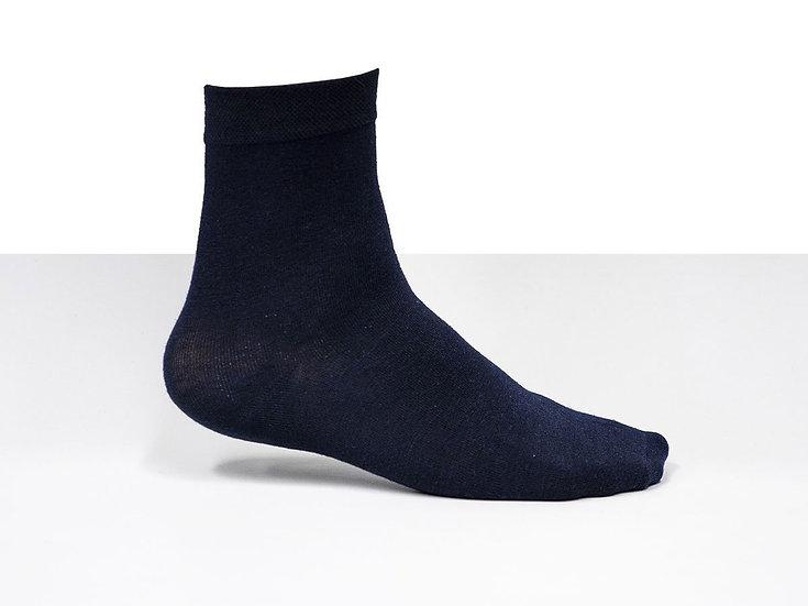 3 par marinblåa strumpor i bomullsblandning, bra kvalitet, storlek 38-42