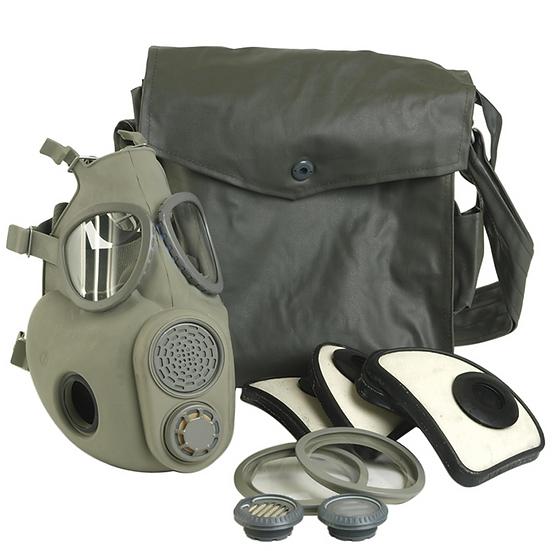 Skyddsmask / gasmask M10 M med filter och väska