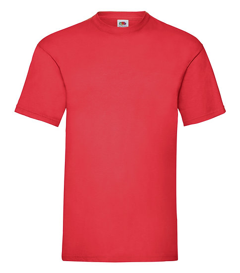 Röd T-shirt Valueweight - Fruit of The Loom