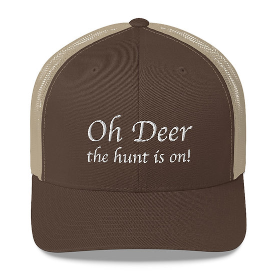 Retro Trucker-Keps, Oh deer, the hunt is on!