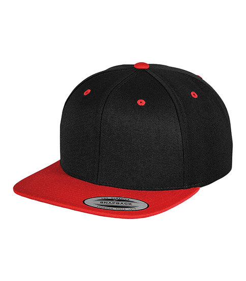 Black/Red Yupoong Classic Snapback keps