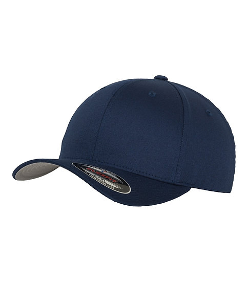 Marinblå Yupoong Flexfit Fitted Baseball keps