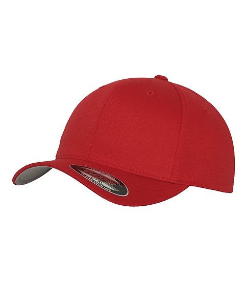Röd Yupoong Flexfit Fitted Baseball keps