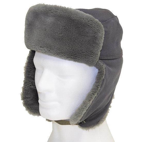 Tysk NVA varmfodrad vintermössa, Officer, grå