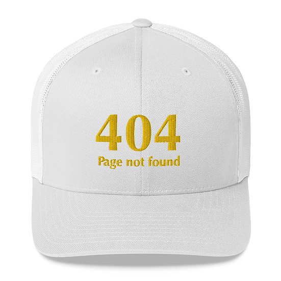 "Retro Trucker-Keps - ""404 Page not found"""