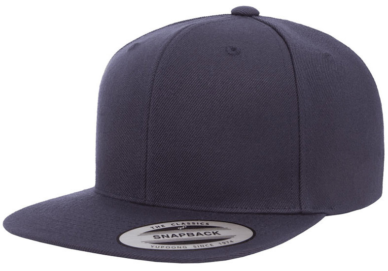 Mörkblå/Mörkblå Yupoong Classic Snapback Keps Med Mörkblå Underskärm