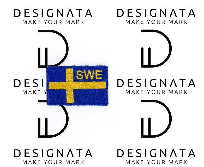 Sveriges flagga broderad Patch 4x6,2 cm