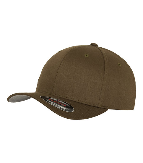 Olive Yupoong Flexfit Fitted Baseball keps