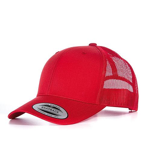 Röd Yupoong Retro Truckerkeps