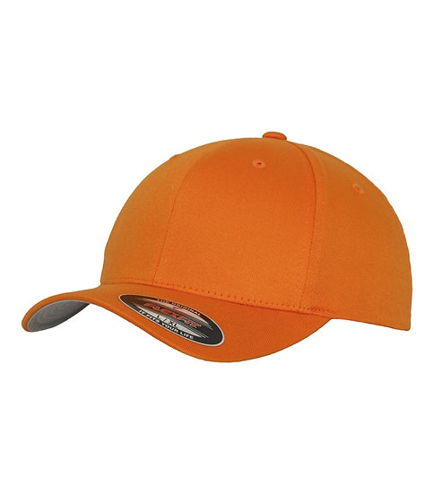 Orange Yupoong Flexfit Fitted Baseball keps