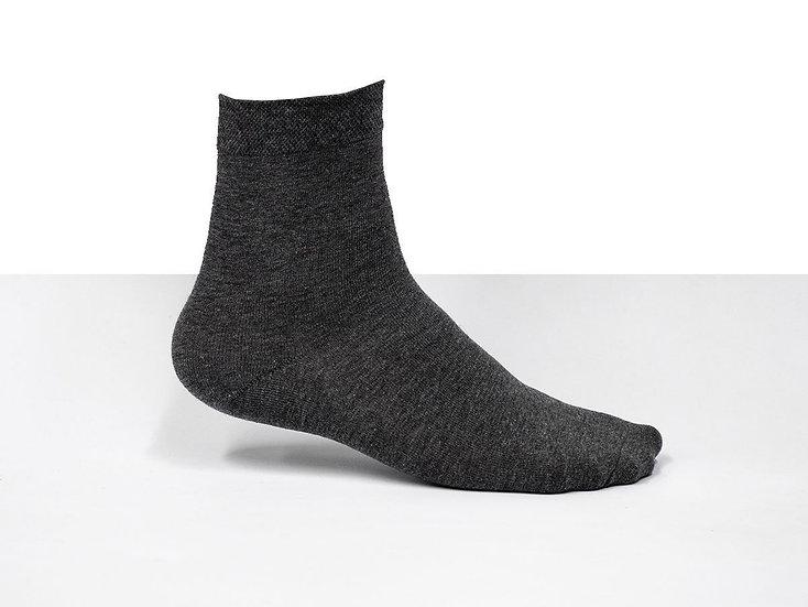 3 par mörkgråa strumpor / sockar i bomullsblandning, bra kvalitet, storlek 38-42