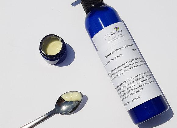 Crème à main pour la peau sèche