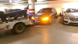 Эвакуация из паркинга Химки