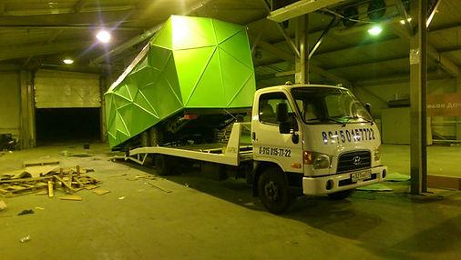 перевозка негабаритных бытовок в Москве