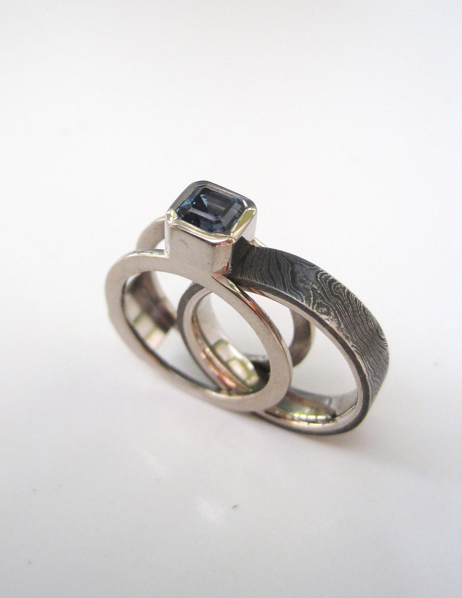 'Twist' pattern Scaffolding ring