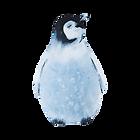 Acuarela Pingüino 2