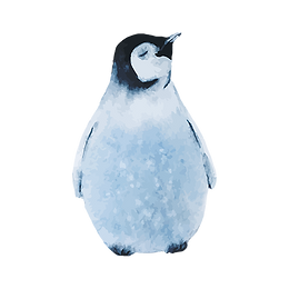 Watercolor Penguin 2