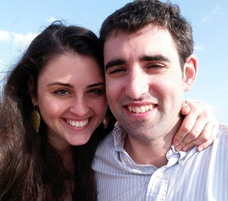Oleh Daniel Rosehill with his wife