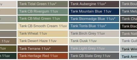 Rainwater Tank Colours