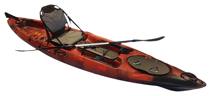 Pro Angler 12 Deluxe Single Fishing Kayak - Kuer Kayaks 8uv
