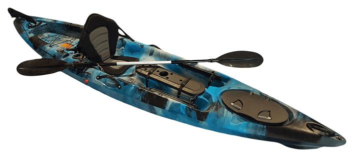 Pro Angler 12 Single Fishing Kayak - Kuer Kayaks 8uv