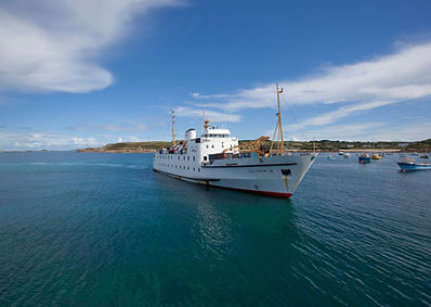 Scillonian arrving at St Mary's.