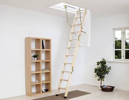Dolle Clickfix 76 timber loft ladder