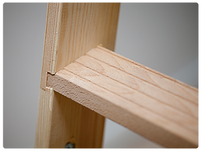 Dolle timber loft ladder treads