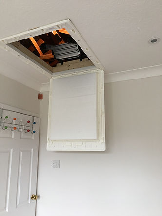 Plastic Insulated Drop Down Loft Hatch