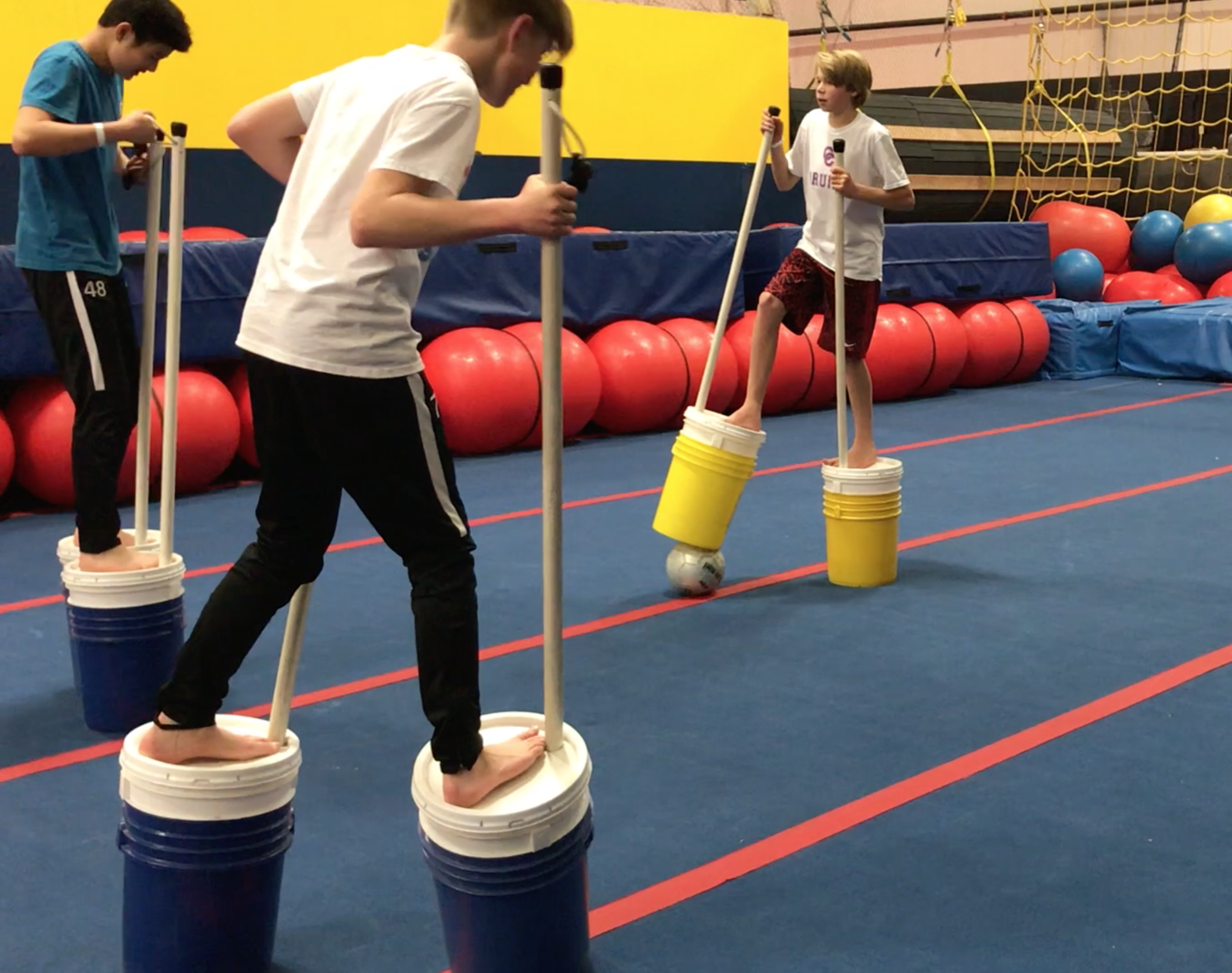 Stilt Bucket Soccer
