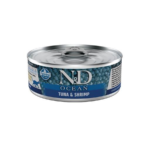 N&D Natural & Delicious Cat Ocean Tuna & Shrimp 80g