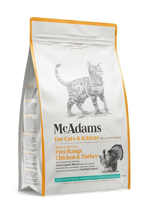 McAdams British Free Range Chicken with Free Range Turkey Cat