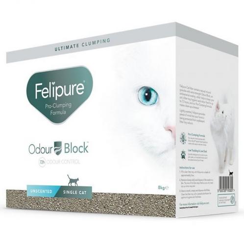 Felipure Single Cat Unscented Litter 8kg