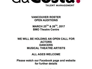 daCosta Talent Management Auditions