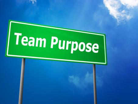 Instilling a Team Sense of Purpose