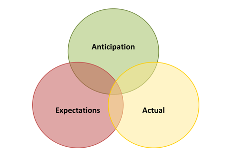 Anticipation vs Expectations vs Actual