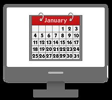 Calendar on Screen
