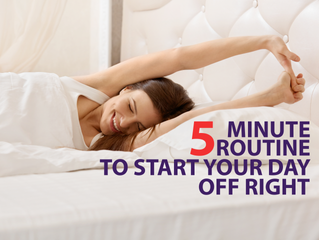 A 5 Minute Morning Ritual To Start Every Day Off Right