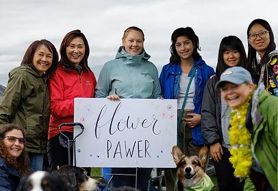 Dog cancer charitable giving flower team.png