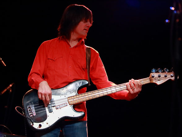 Paul playing electric bass