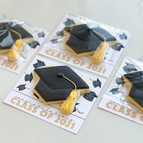 Grad Cap Cookie Card