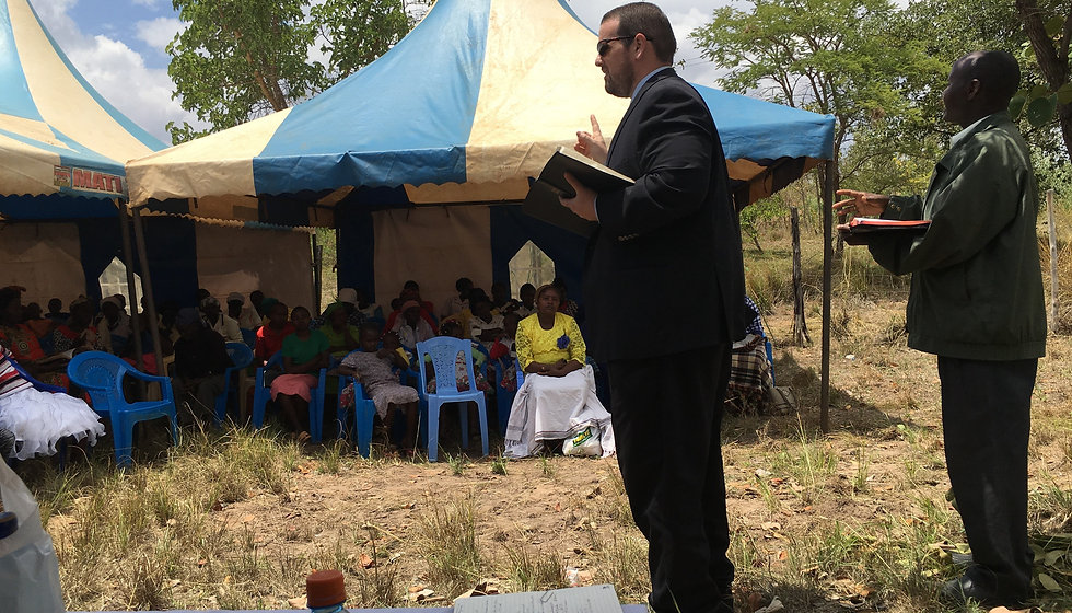 Preaching at the Churches in Manaja Keny