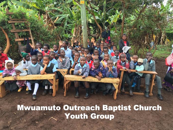Over 100 children attending the Mwuamuto