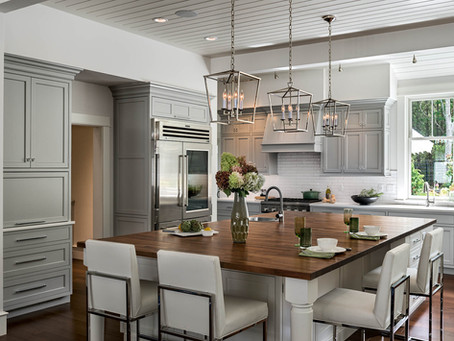 """Multi-Tasking Kitchen for a Busy Family"" PKsurroundings featured in NH Home Magazine"
