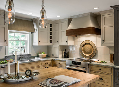 """PKsurroundings wins 2019 Kitchen Design Award from NH Home Magazine for """"Old World Charm"""" kitchen."""