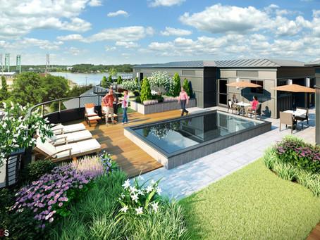 233 Vaughan Street, 9 Exclusive Condominiums, Portsmouth, NH - Tangram Rendering of the Roof Top!
