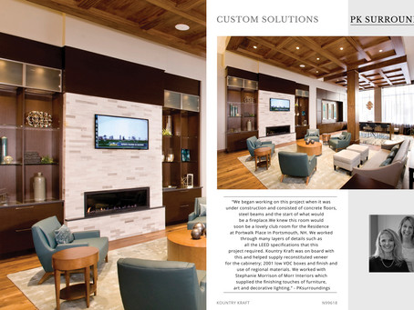PKsurroundings projects are featured in Kountry Kraft's new Brochure!