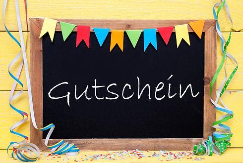 Chalkboard With Streamer, Gutschein Mean