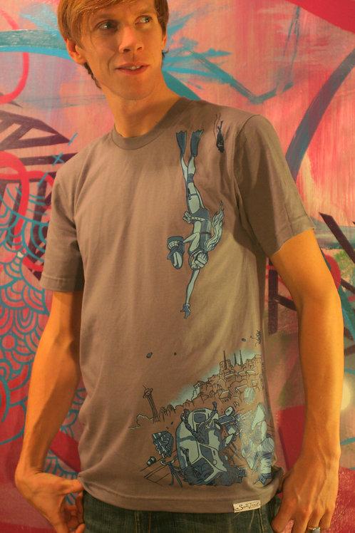 Grey Scuba diver T-shirt