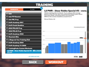 How to load one of our structured workouts on Zwift